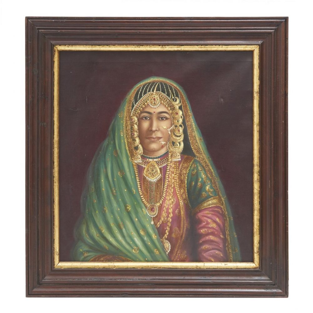 Indian Painting Of A Jaisalmer Lady