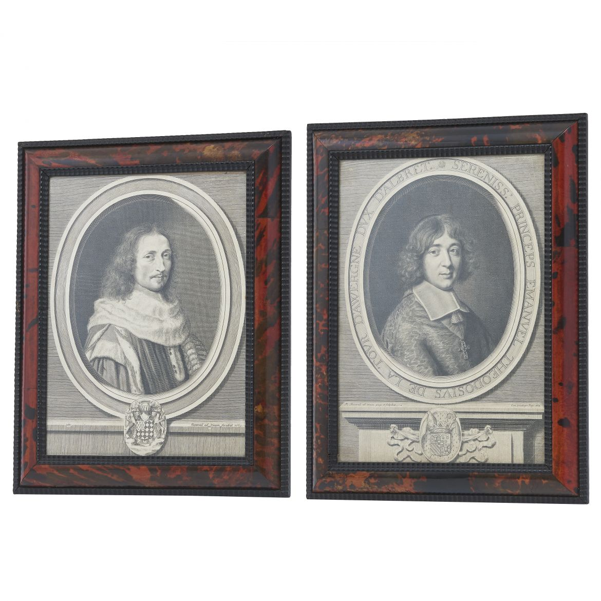Flemish Prints With Tortoiseshell Frames