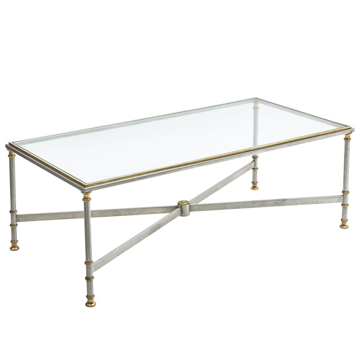 Steel And Brass Coffee Table