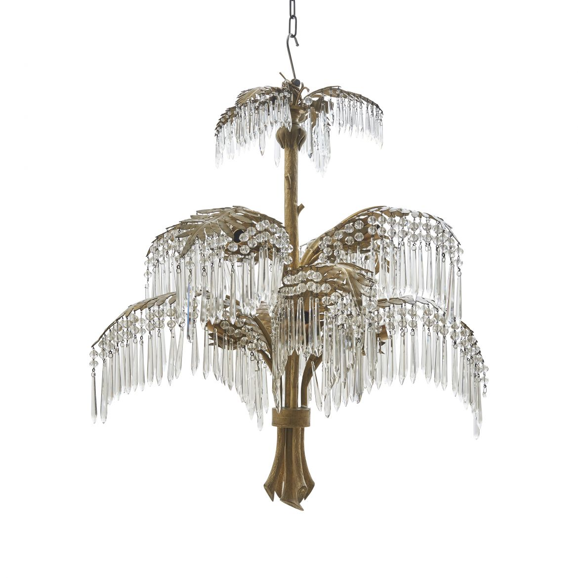 French Fern Shaped Chandelier