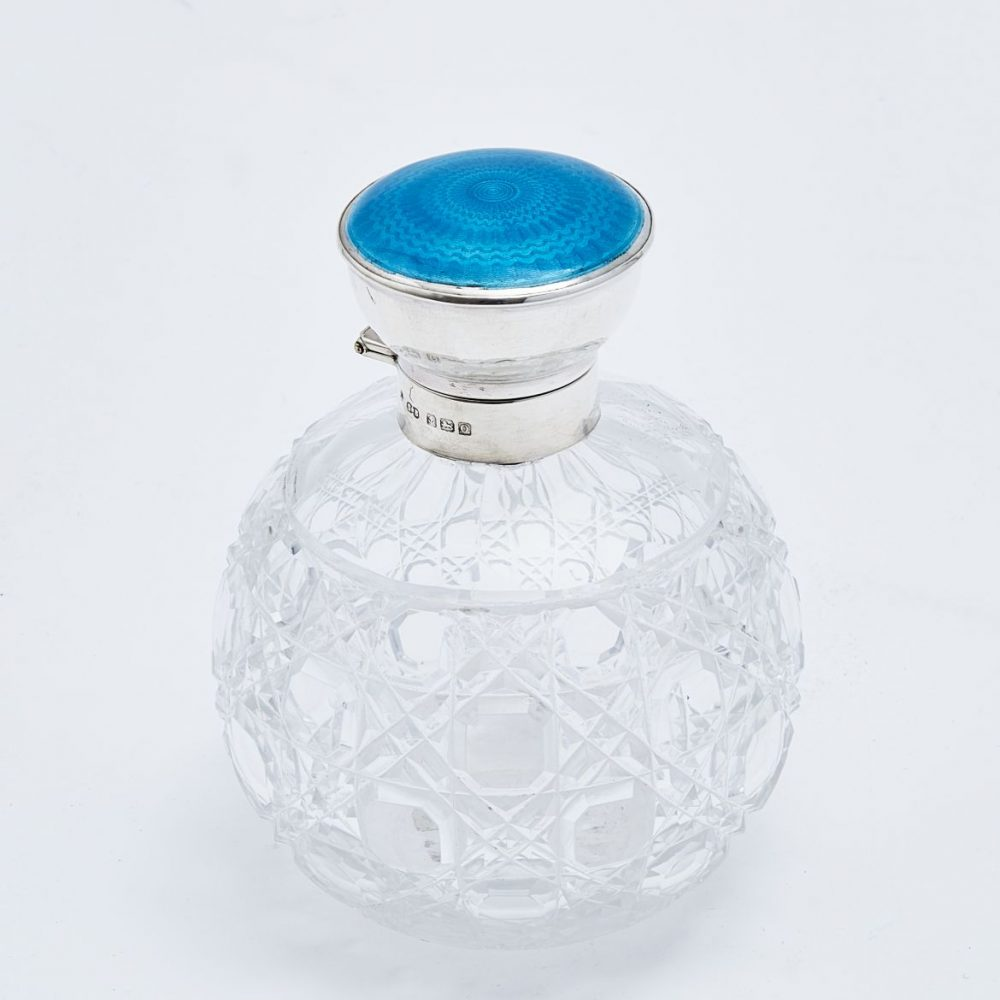 Synyer and Beddoes Enamel Perfume Bottle
