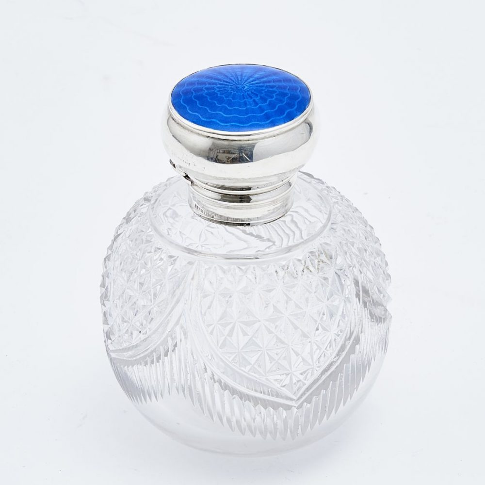 American Crystal and Enamel Perfume Bottle
