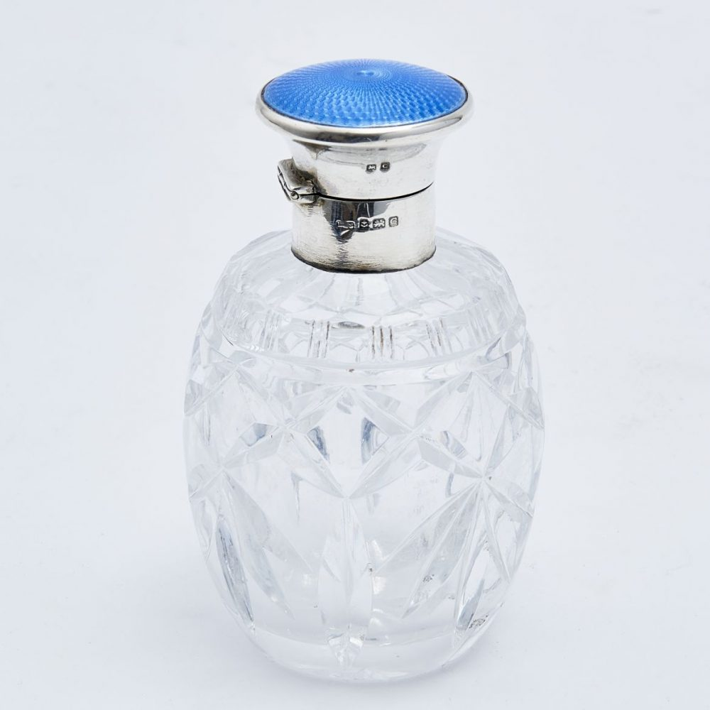 Levi and Salaman Enamel and Silver Bottle