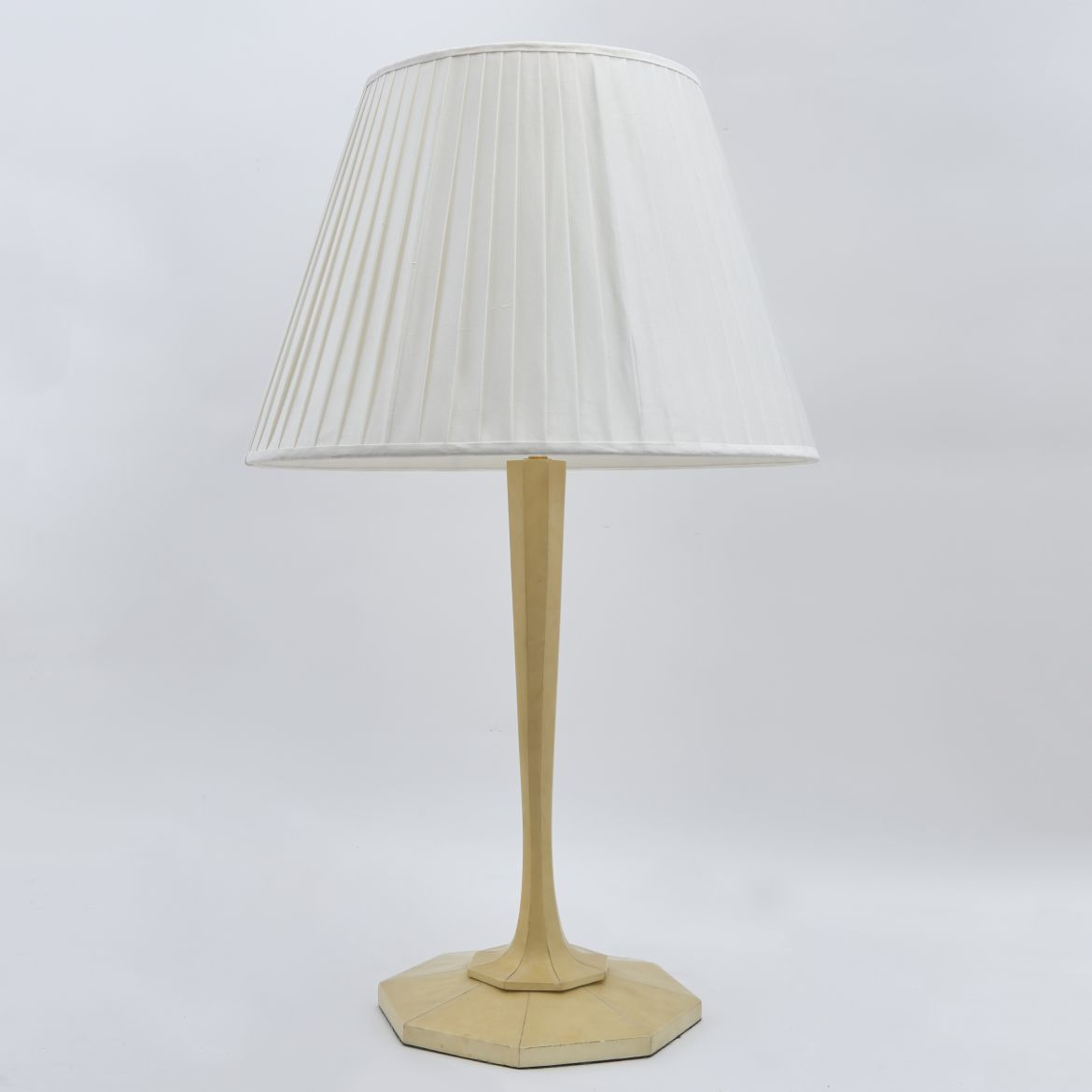 Hexagonal Base Parchment Lamp