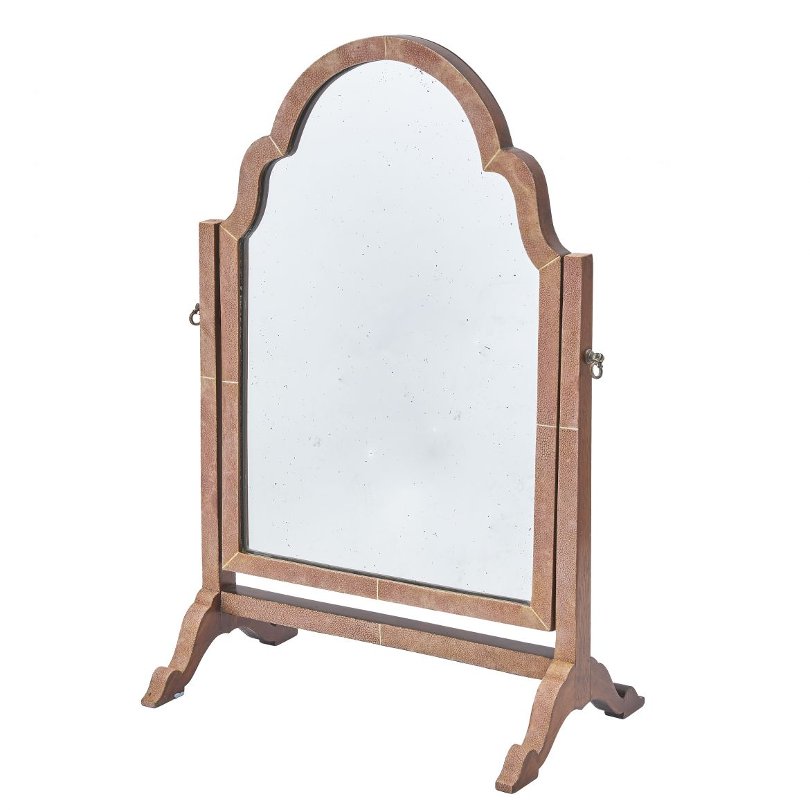 Pink Shagreen Dressing Table Mirror