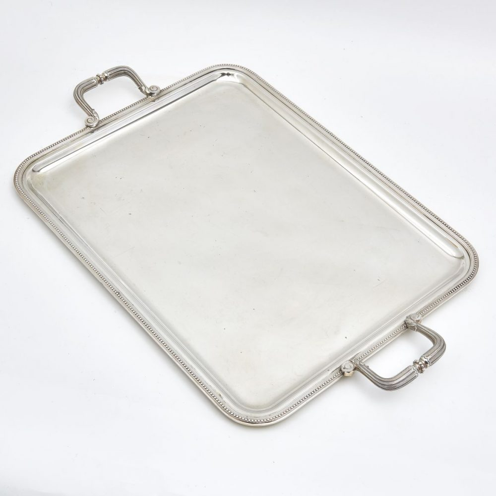 French Silver Plate Tray
