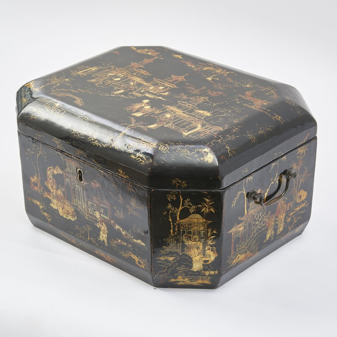 Chinese Export Black Lacquer Box