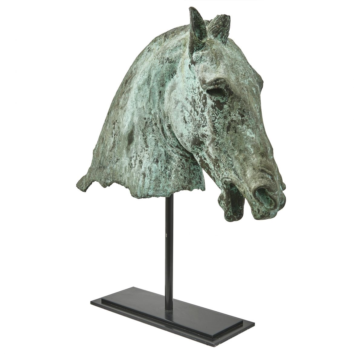 Italian Bronze Grand Tour Horse Head Sculpture