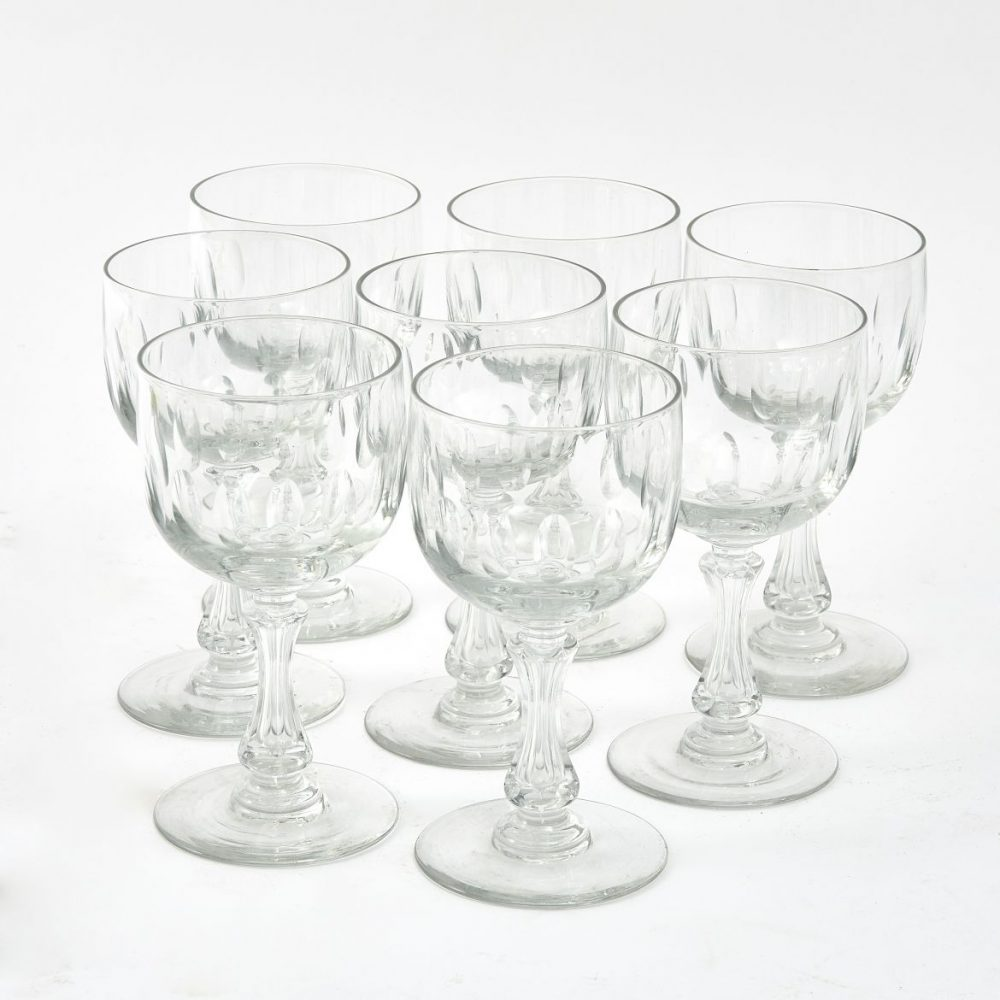 Set Eight Val St Lambert Glasses