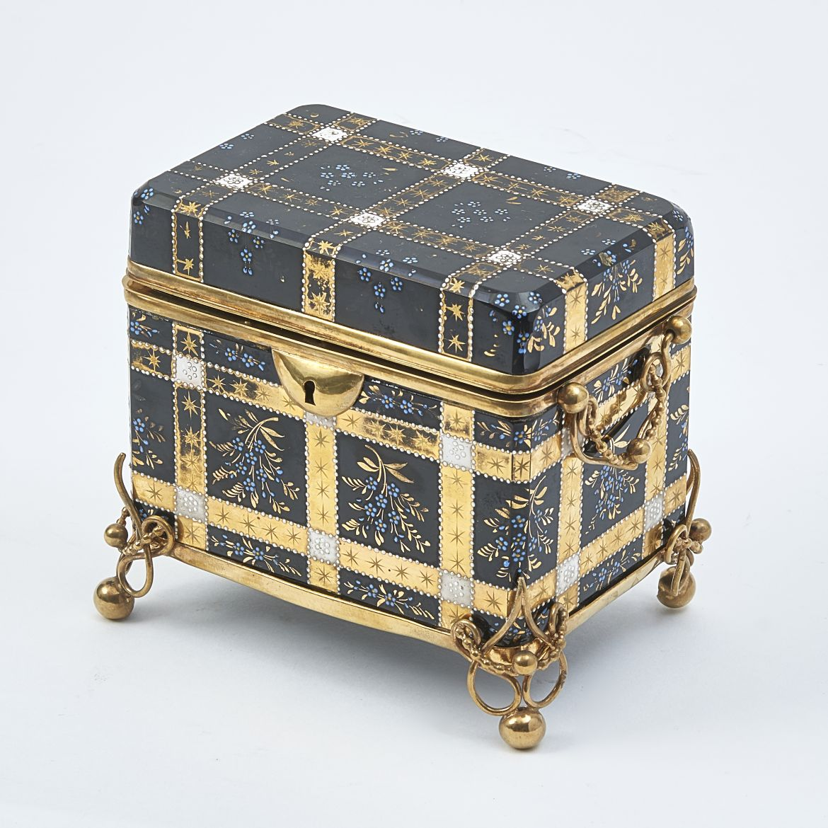 Bohemian Glass Box Attributed To Moser