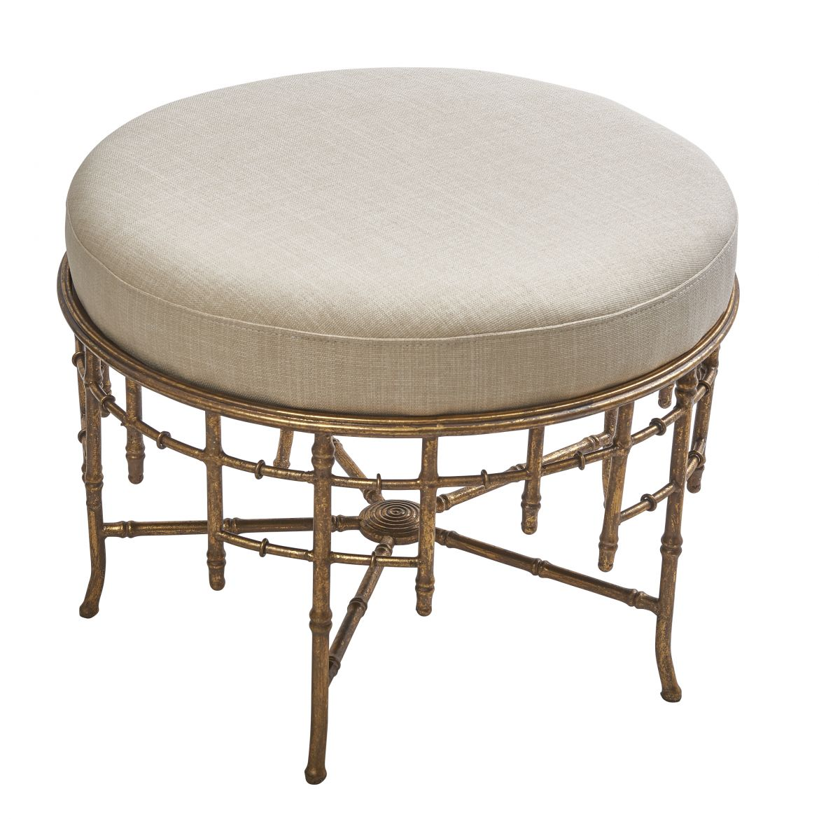French Louis Philippe Style Faux Bamboo Stool