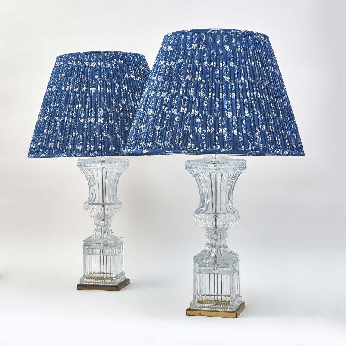 Moulded Glass Urn Shaped Lamps