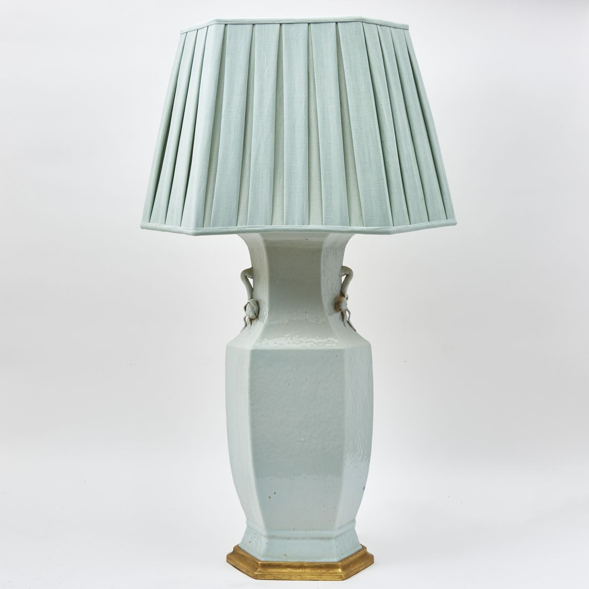 Large Chinese Blanc De Chine Lamp