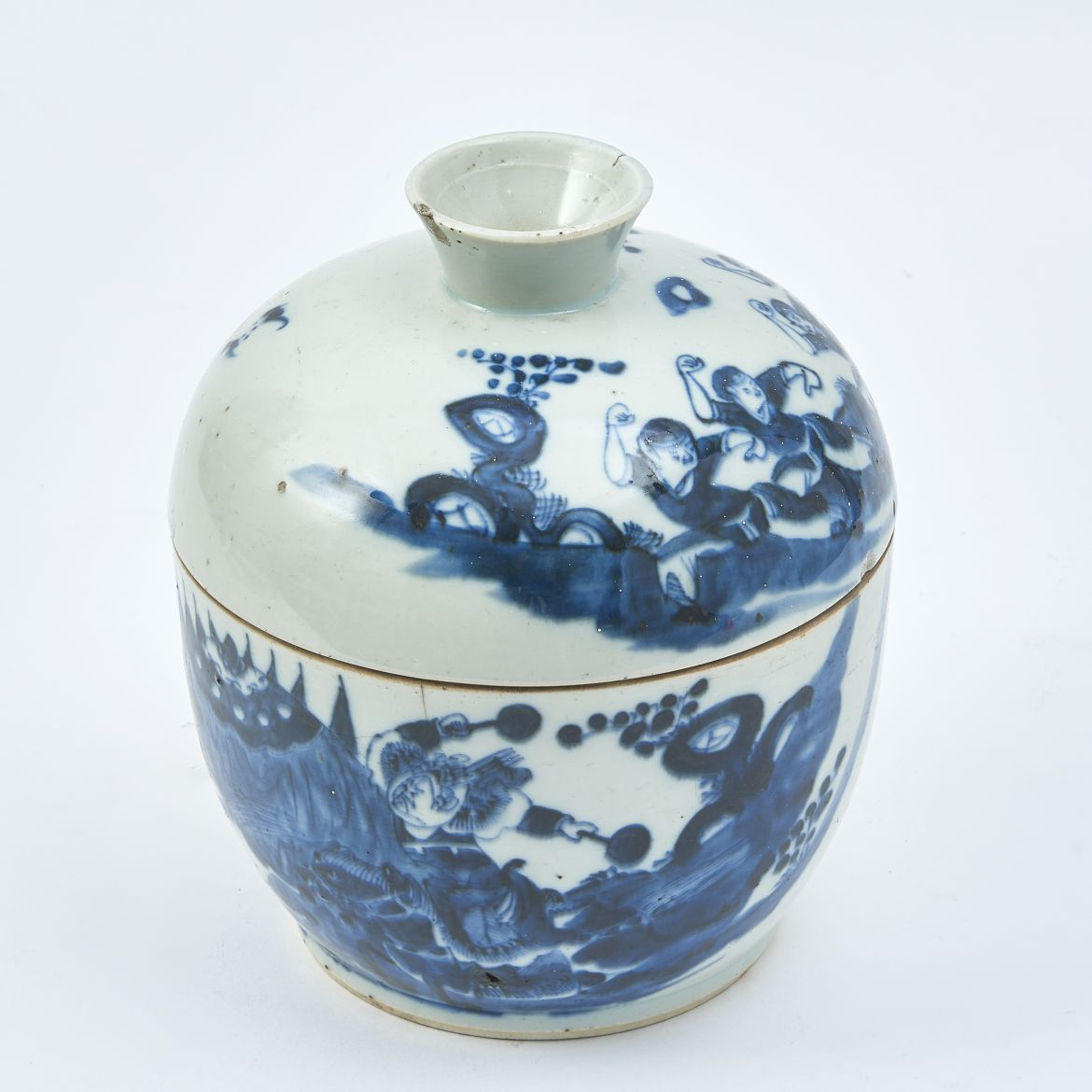 Chinese Blue and White Bowl And Cover