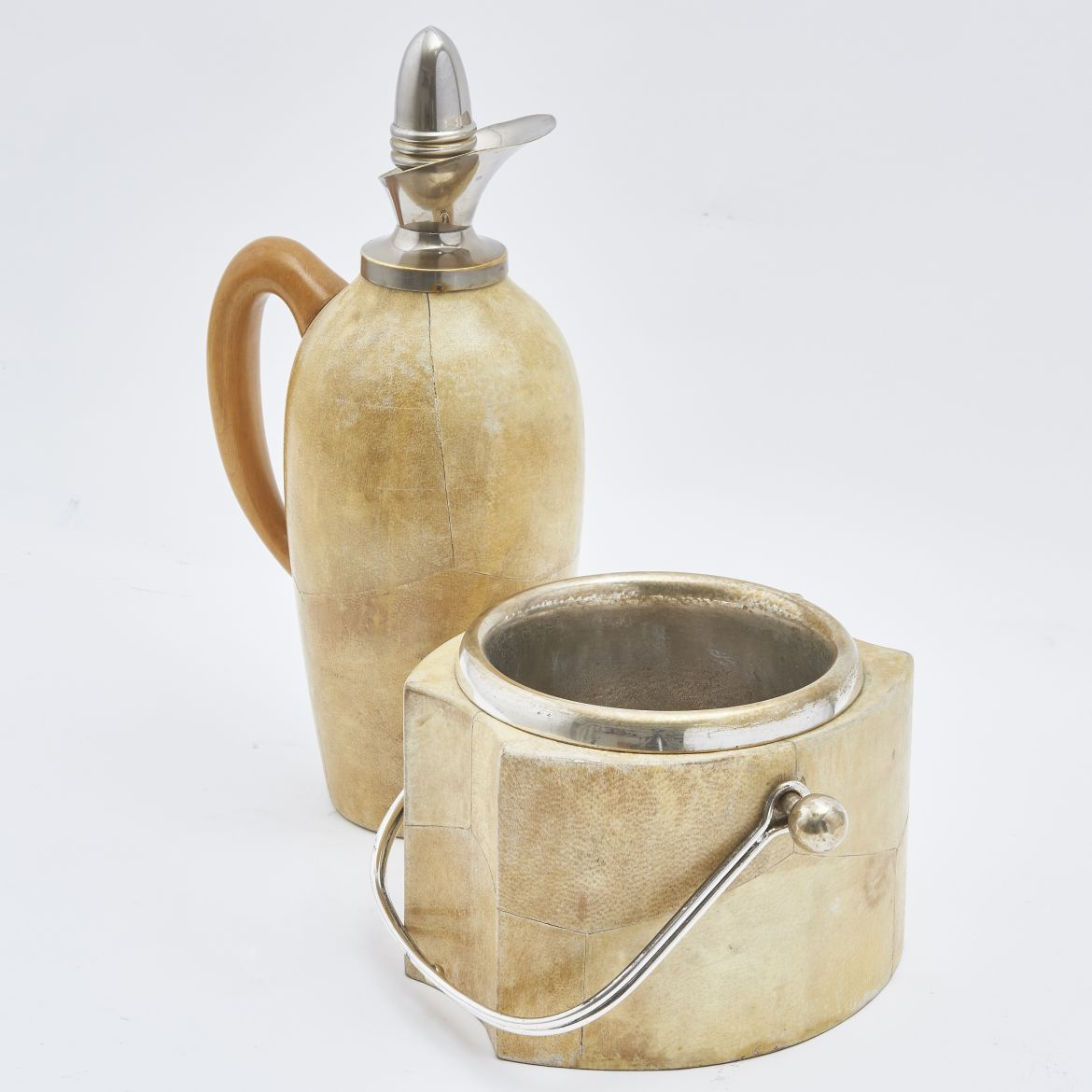 Goatskin Jug And Thermos Attributed To Aldo Tura