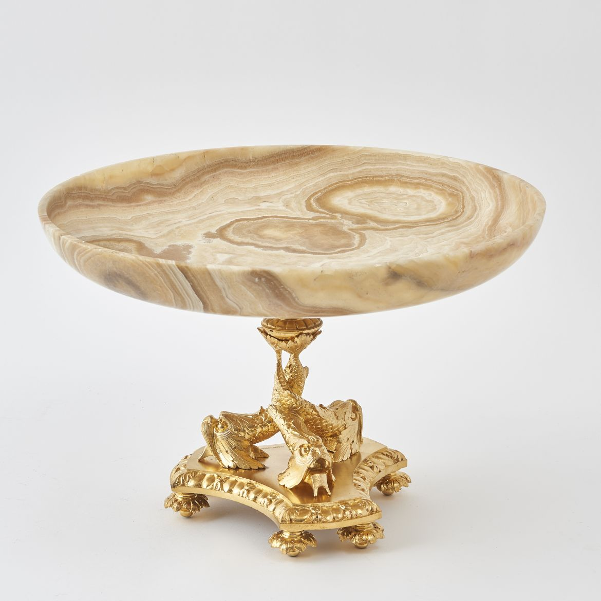 French Ormolu Mounted Onyx Tazza