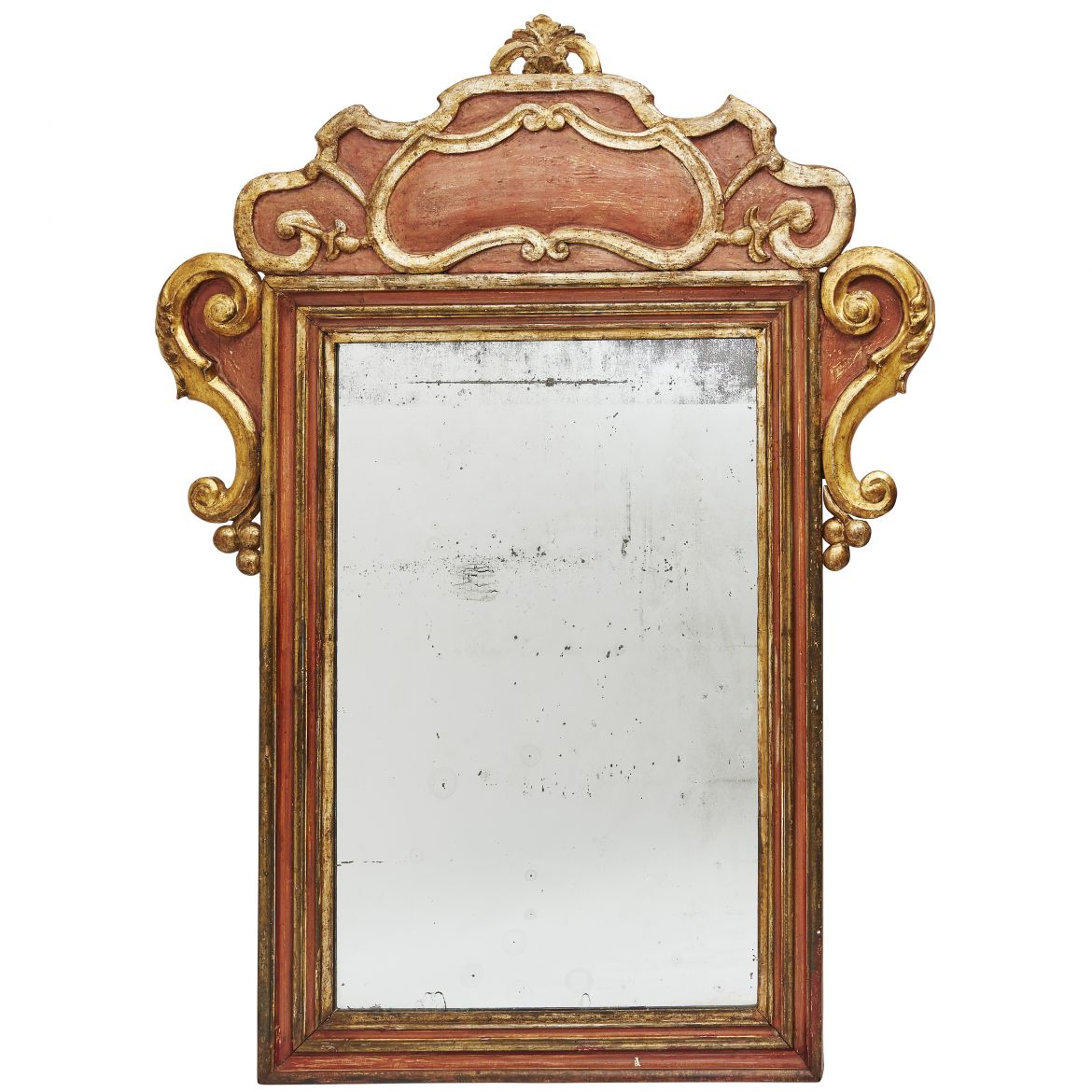 Italian Parcel Gilt Carved Wood Mirror