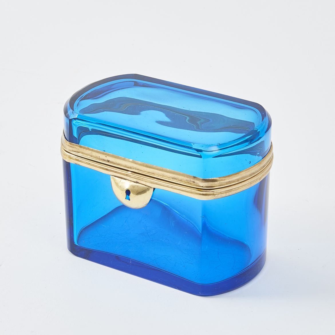 Bohemian Marine Blue Glass Box