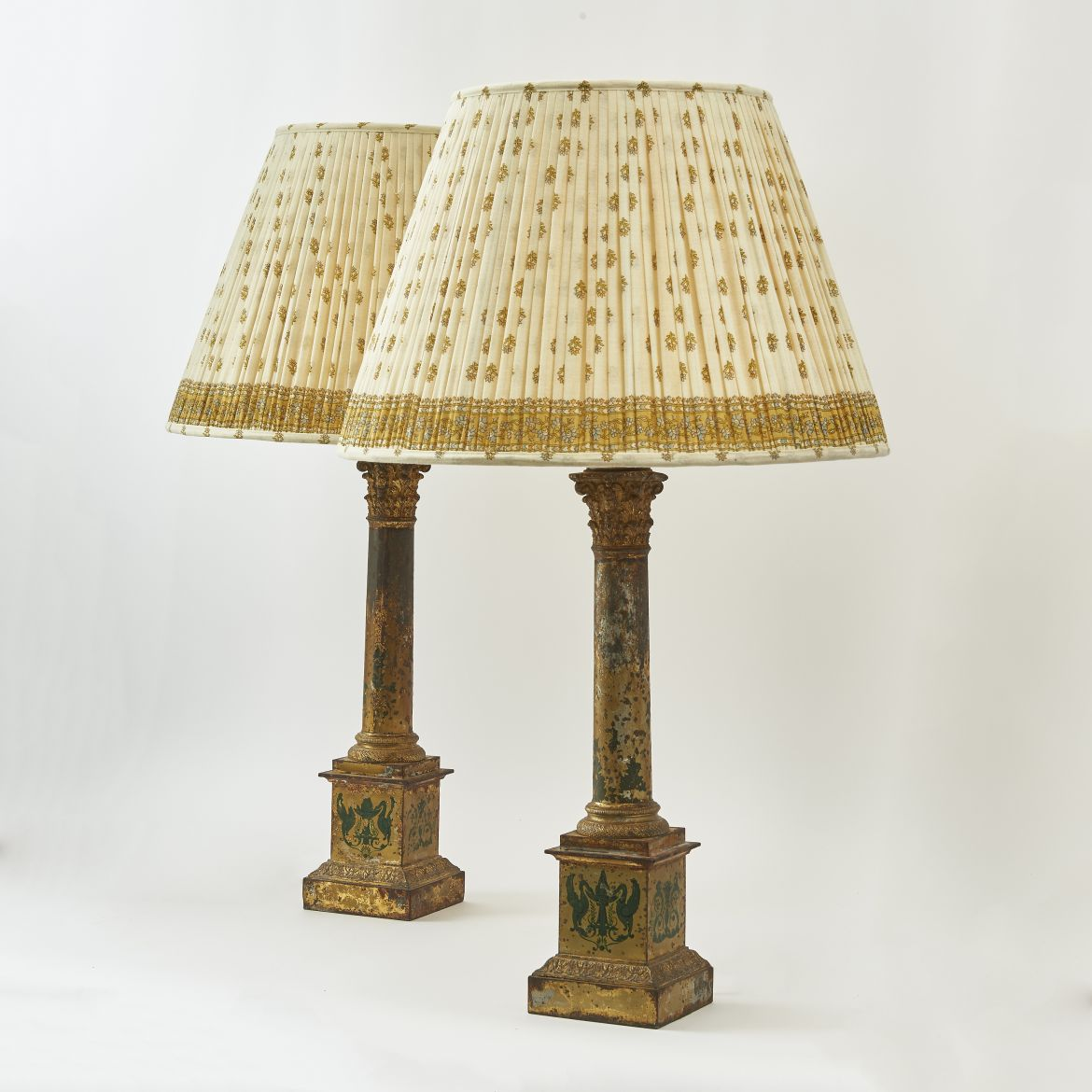 Pair French Tole Lamps