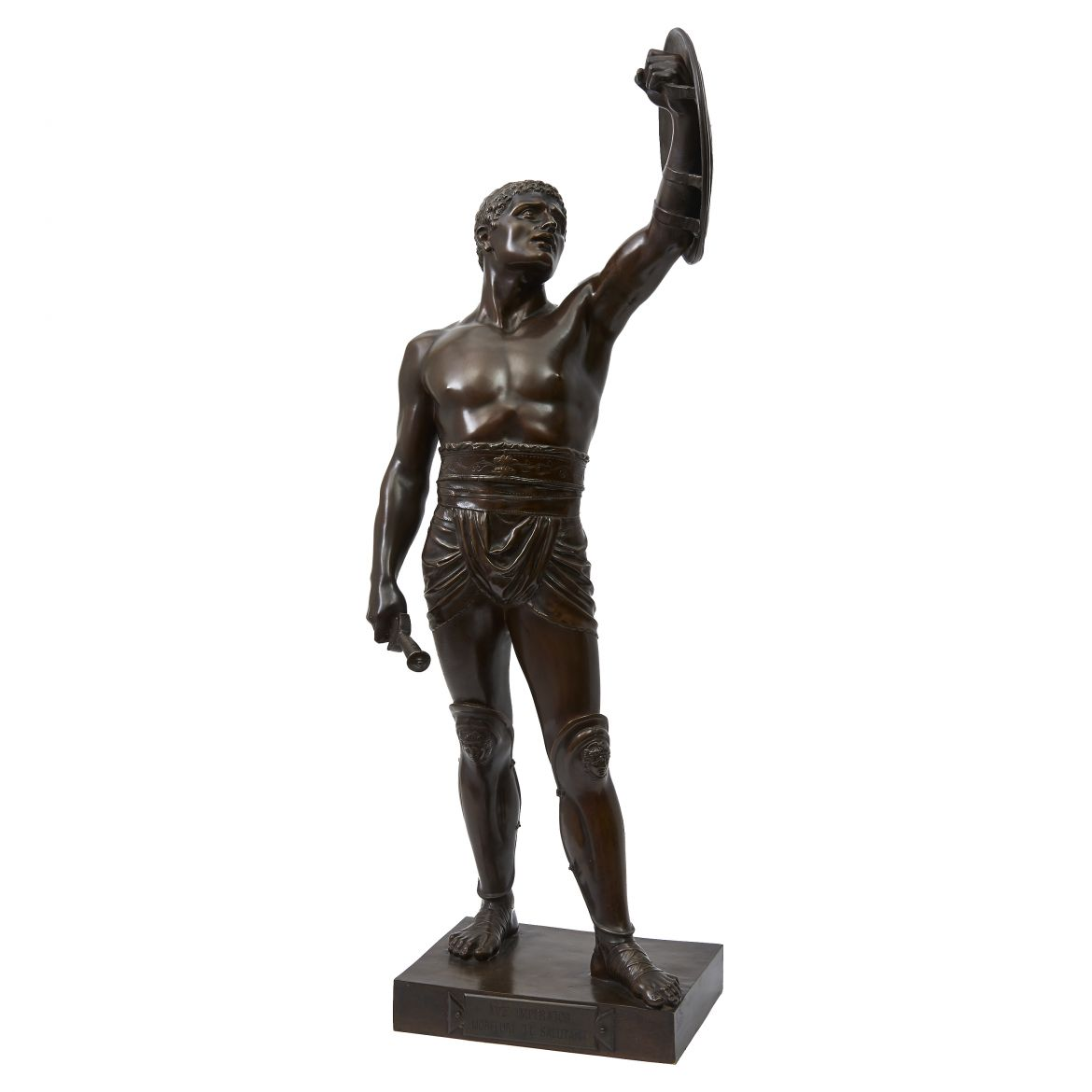 Emille Guillemin Signed Sculpture Of A Gladiator