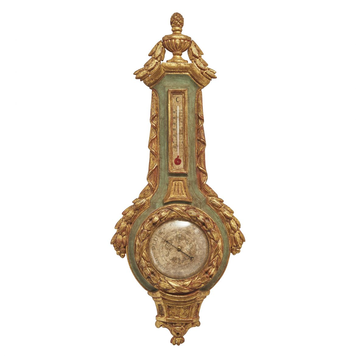 French Parcel Gilt Barometer