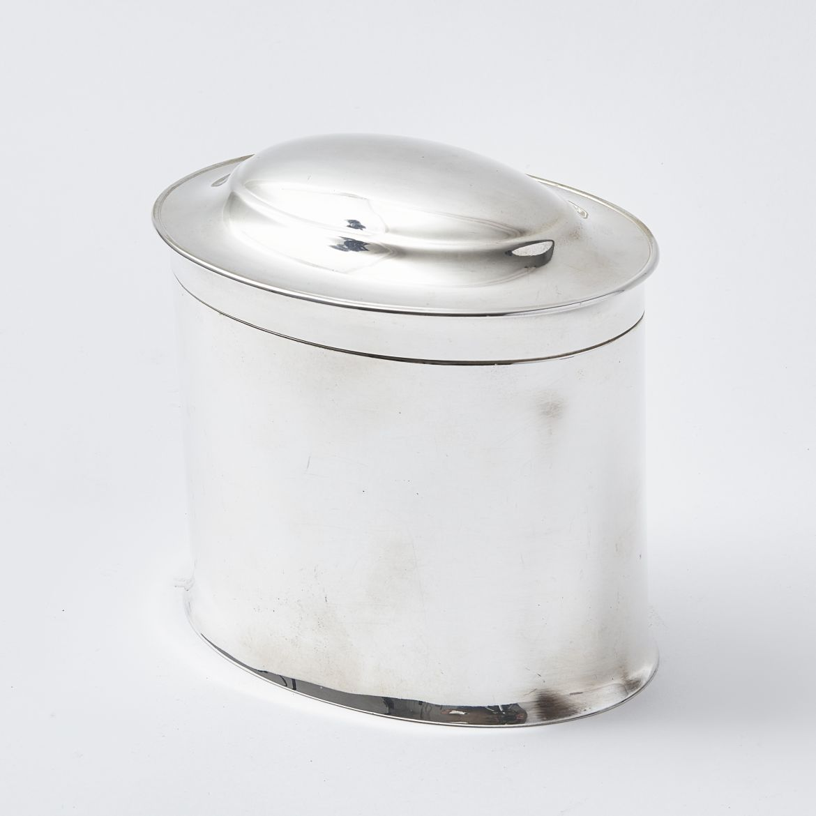 Mappin and Webb Silver Plate Biscuit Box