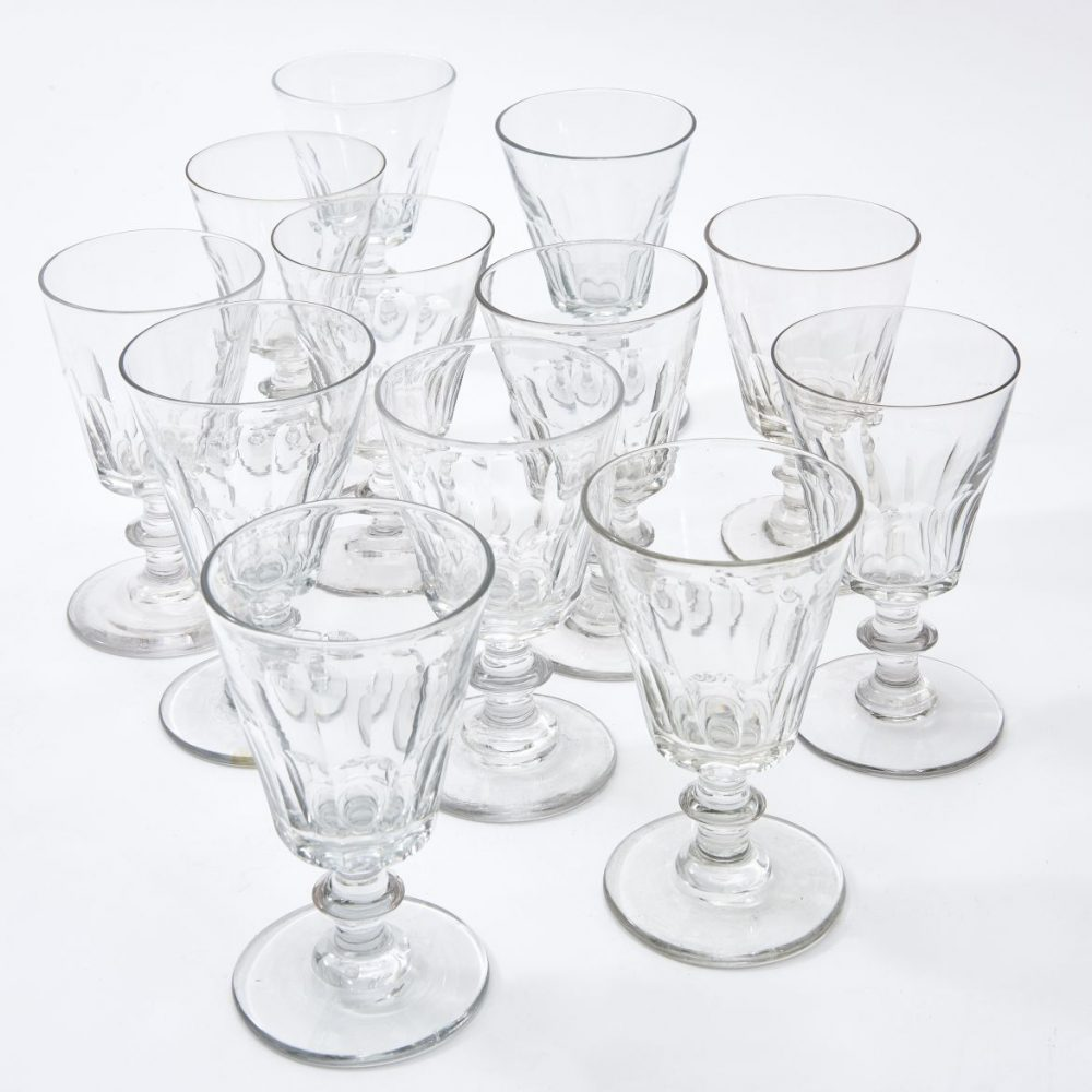 Set Twelve French Glasses