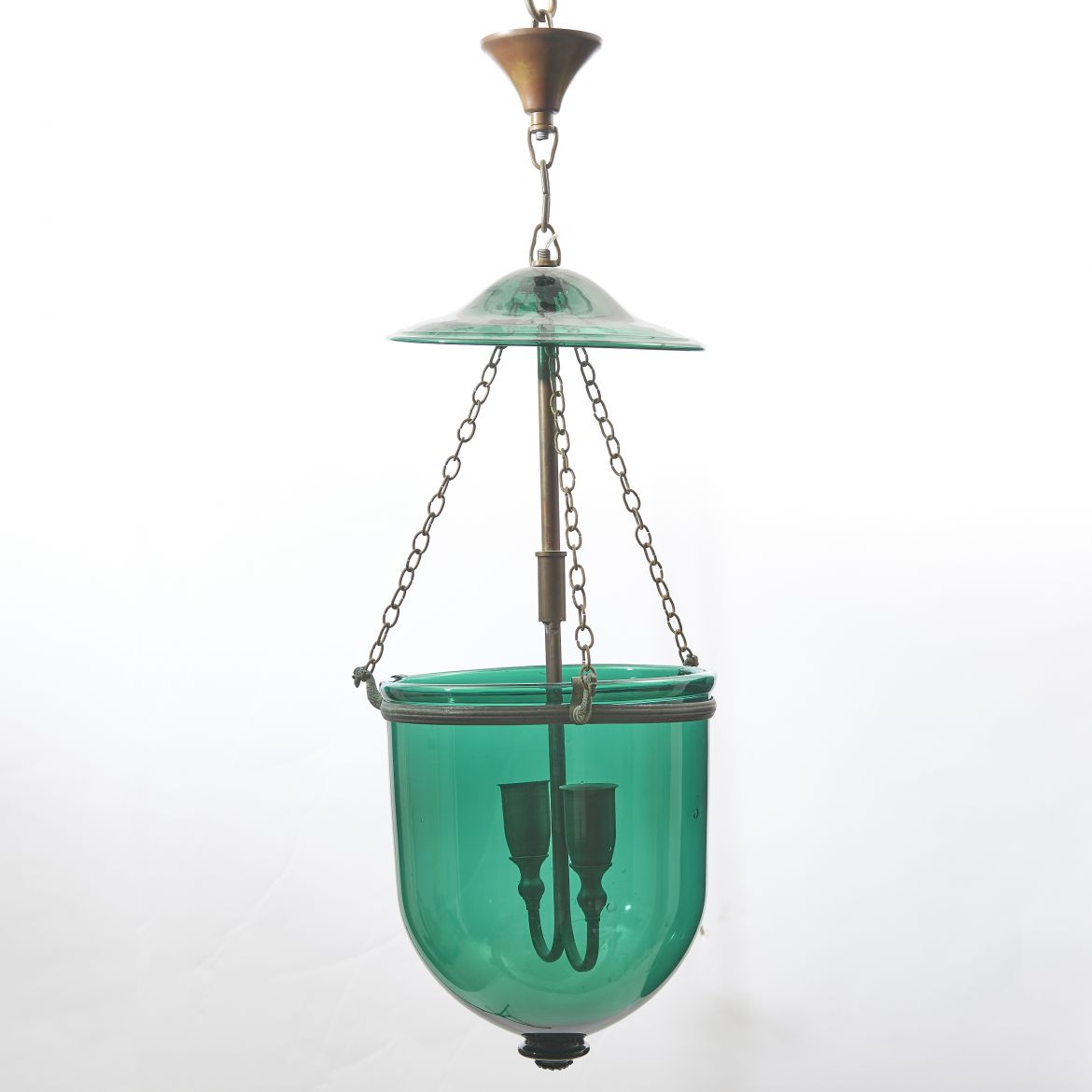 Green glass Mosque Lantern