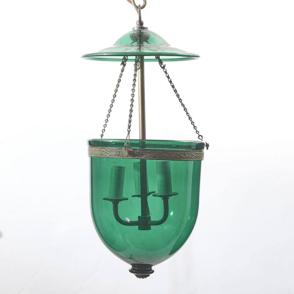 C19th Glass Mosque Lantern
