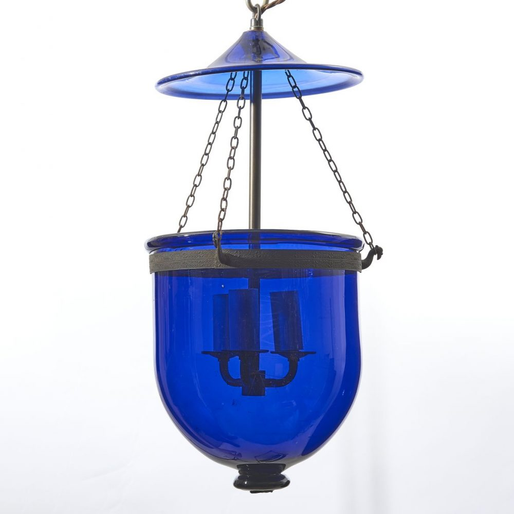 Blue Glass Lantern