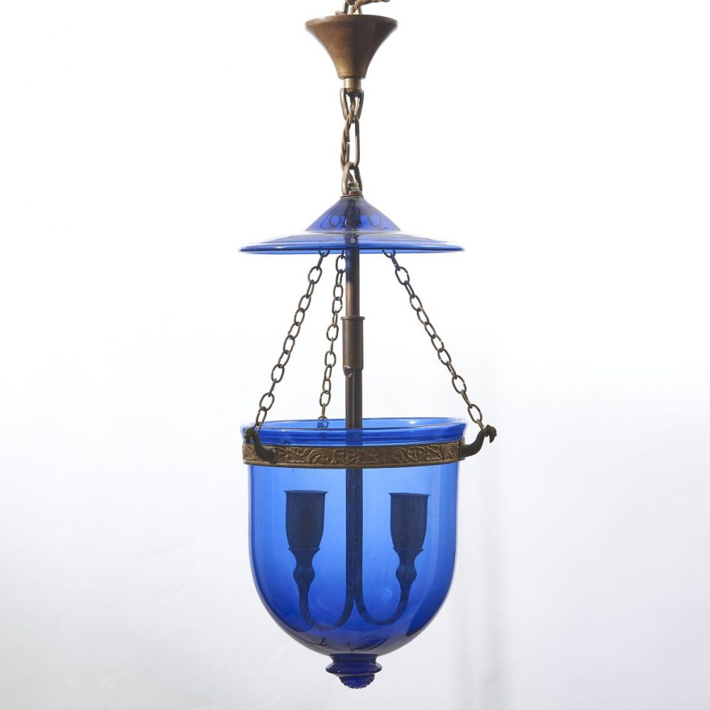 Small Blue glass Mosque Lantern