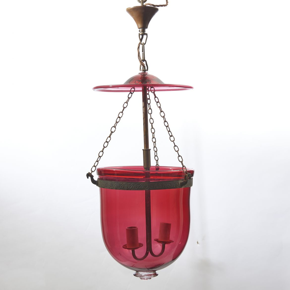 Red Glass Mosque Lantern