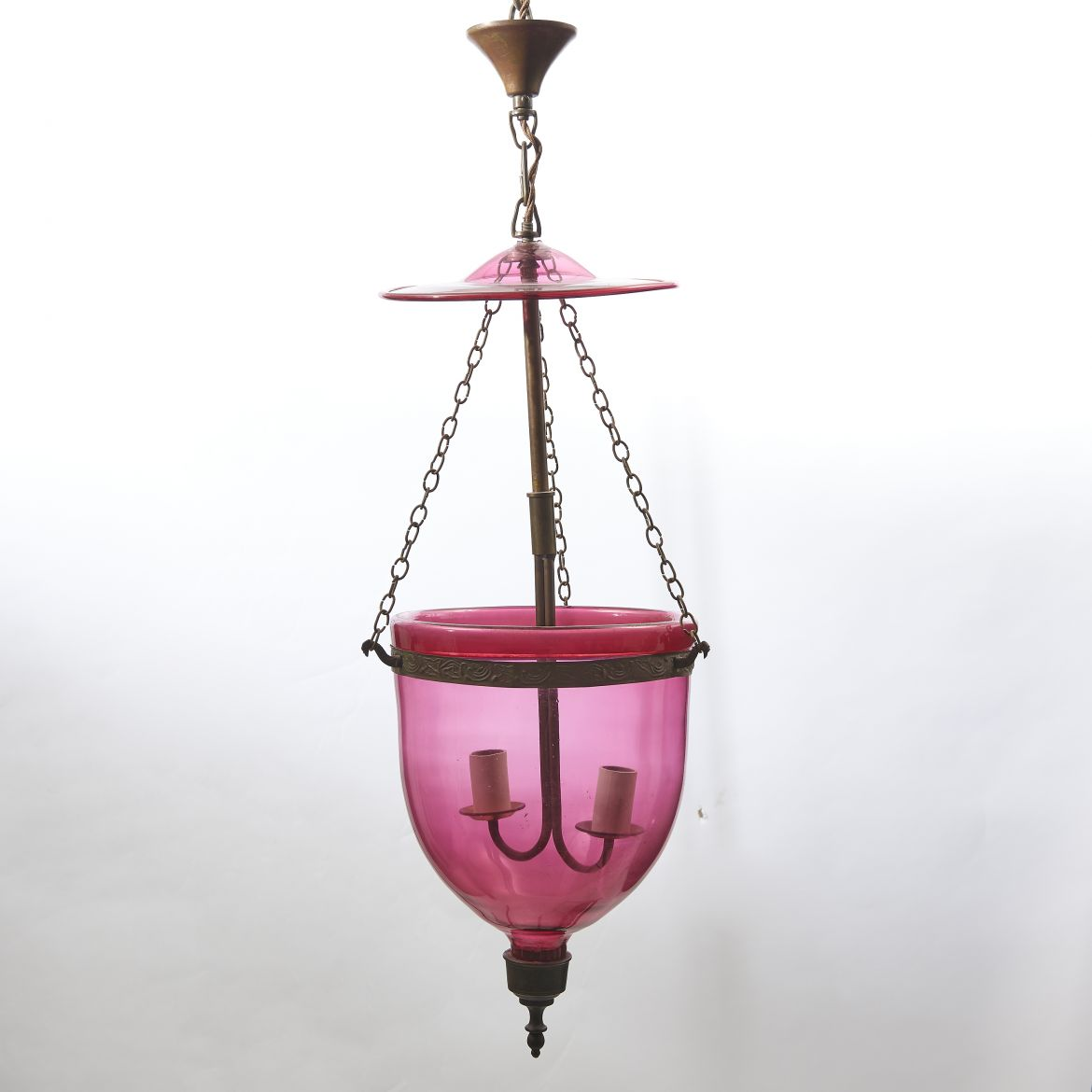 Cranberry glass Mosque Lantern