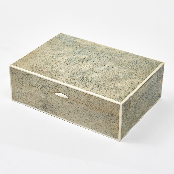 English 1930s Shagreen Box