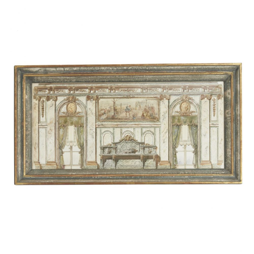 Watercolour Of A French Interior