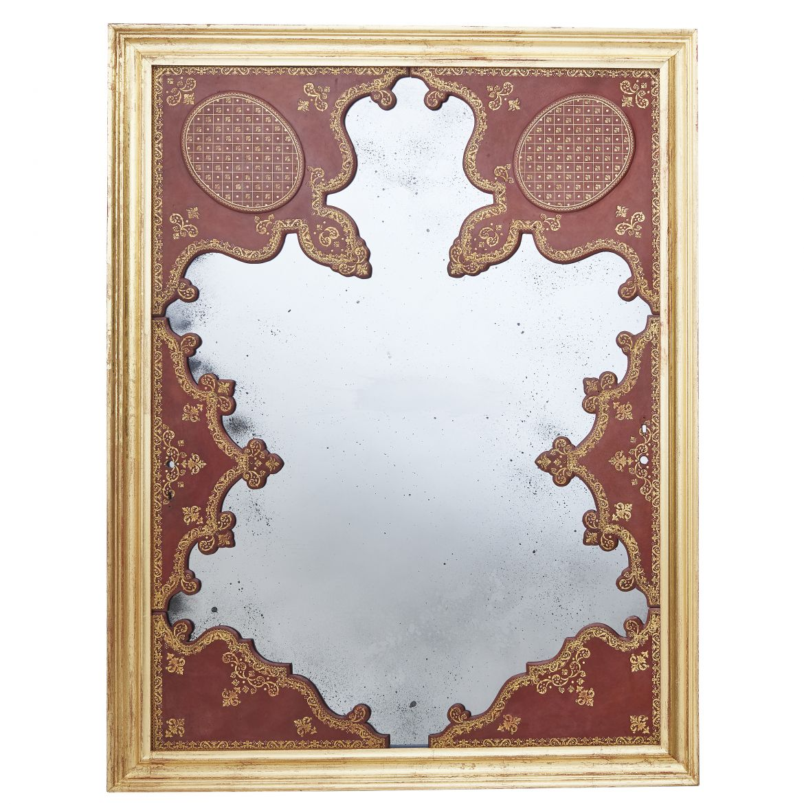 Tooled Leather Panels With Mirror
