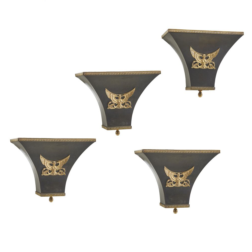 Empire Style Gilt Bronze Wall Fixtures