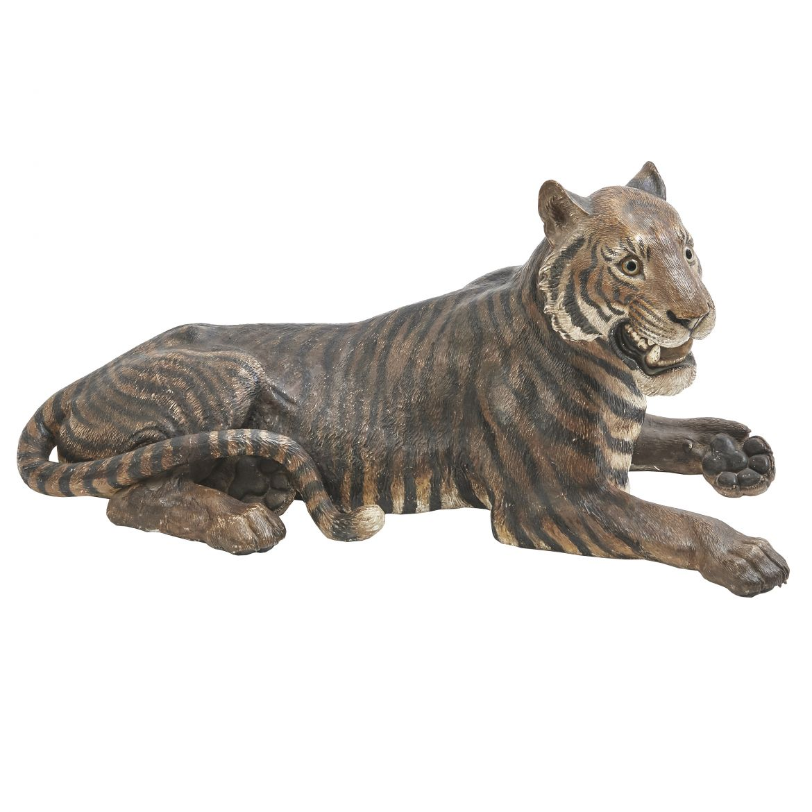 Austrian Cold Painted Terracotta Tiger