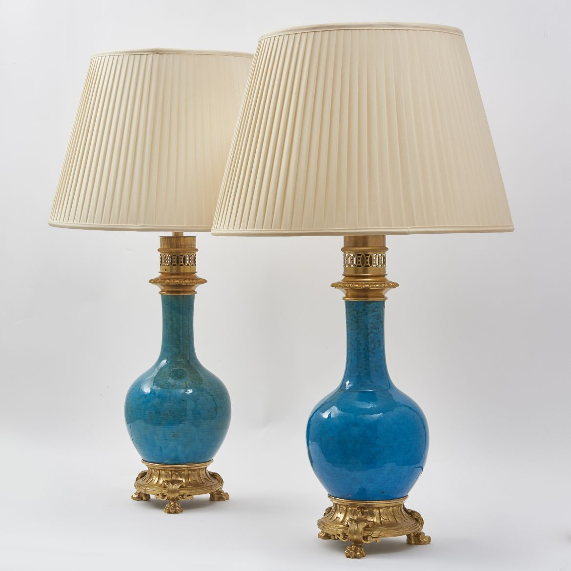 Chinese Porcelain Gourd Shaped Lamps