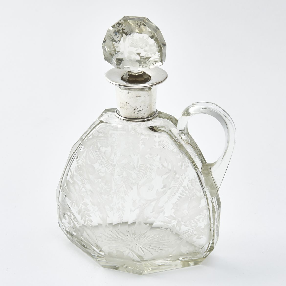French Art Deco Engraved Decanter