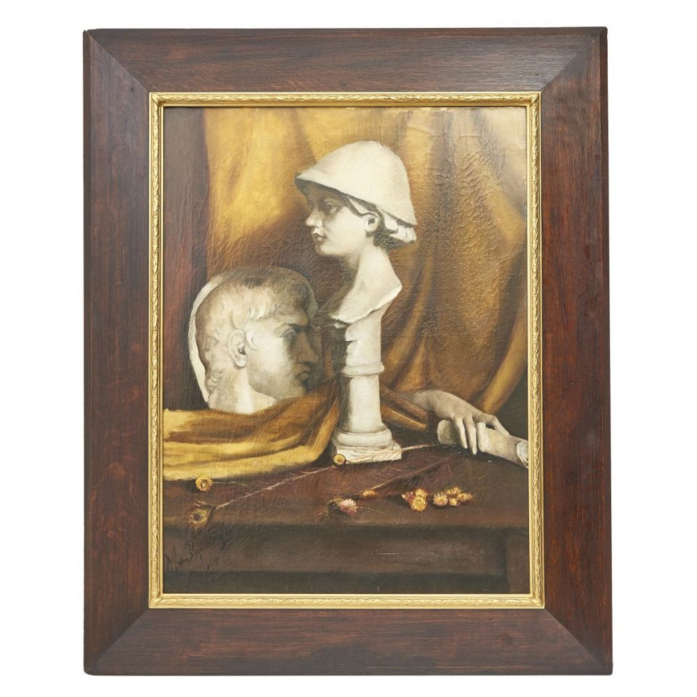 Oil Painting of Marble Sculptures