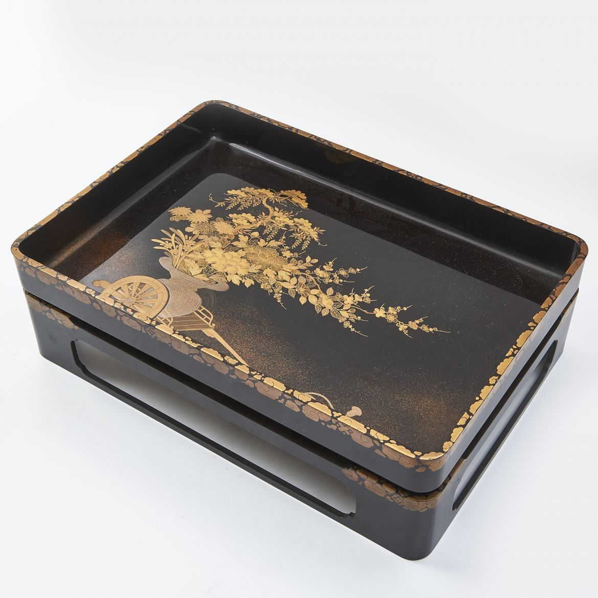 Japanese Lacquer Tray On Stand