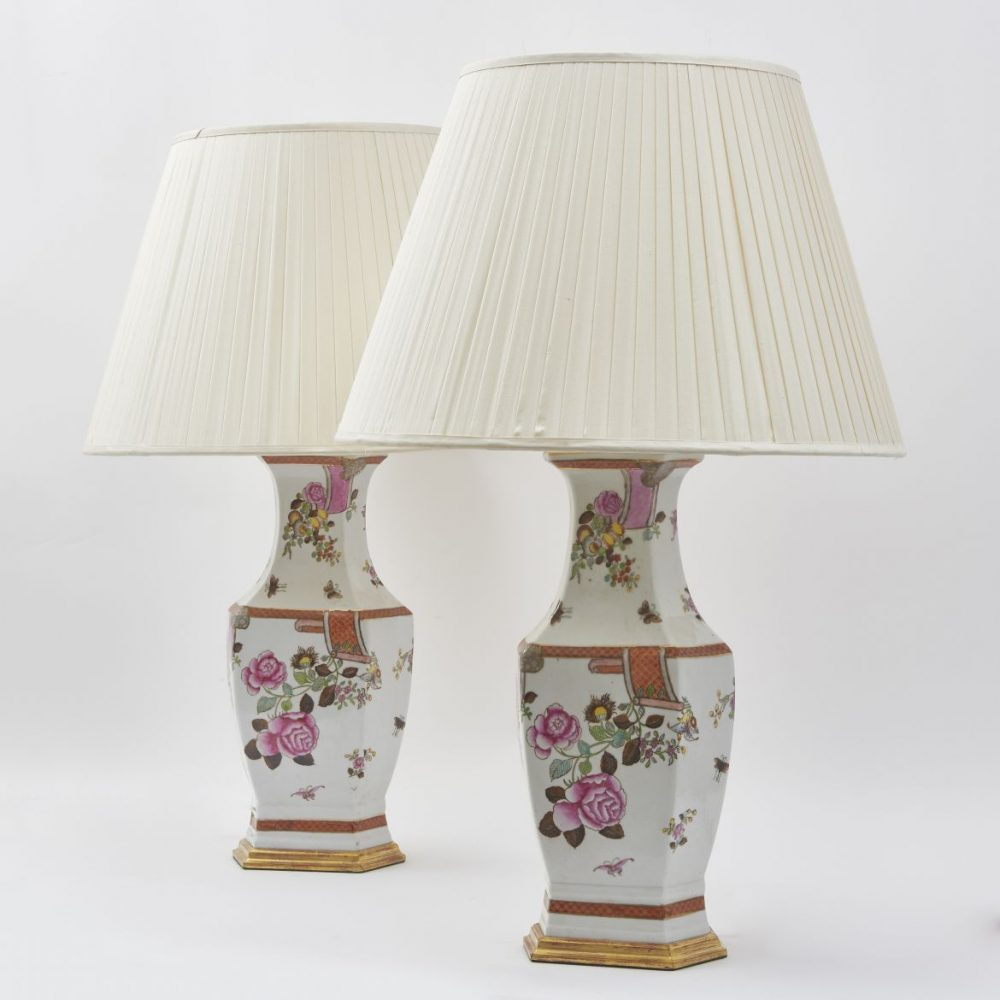 Contemporary Chinese Porcelain Lamps