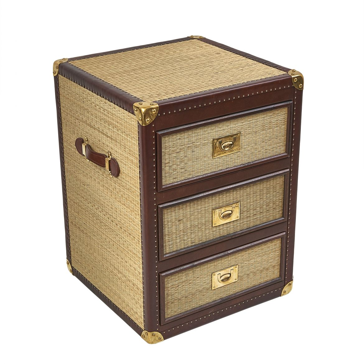 Single Rattan Bedside Drawers