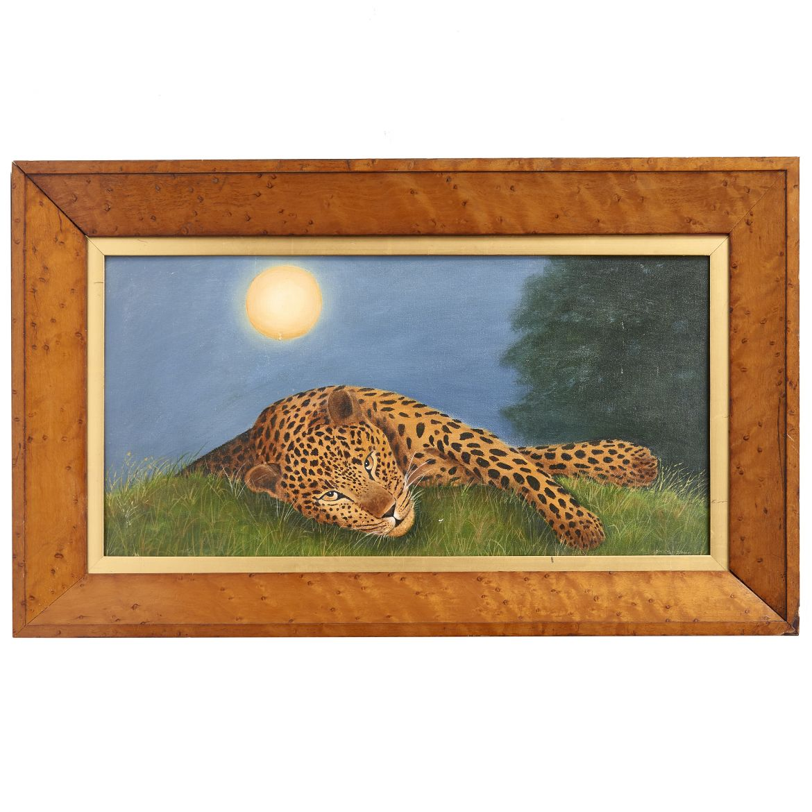 Oil Painting of a Leopard