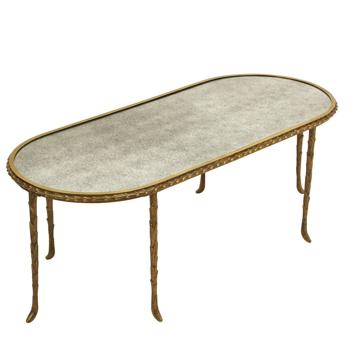 French Bagues Oval Coffee Table