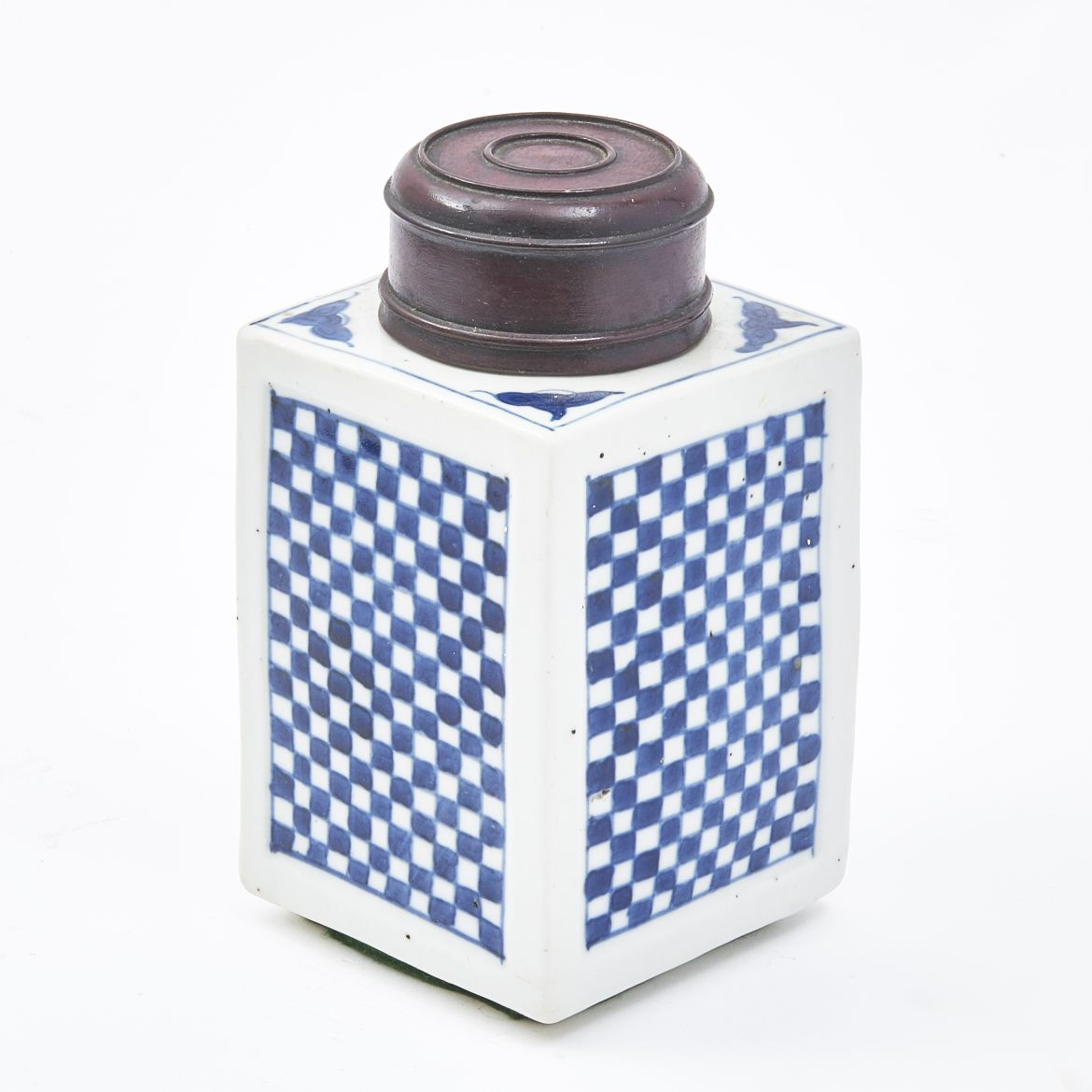 Chinese Checkerboard Tea Caddy