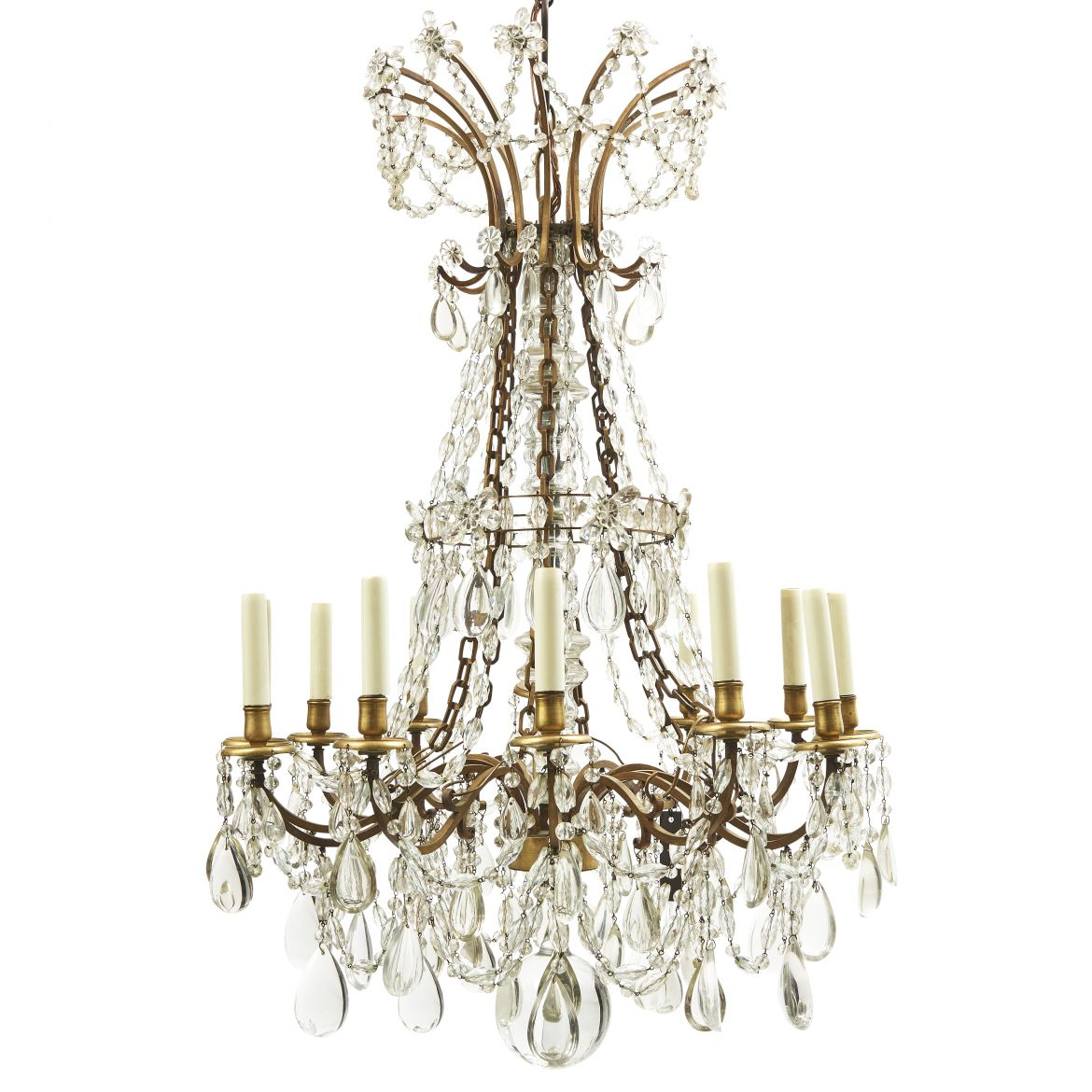 French Baccarat Style Crystal Chandelier