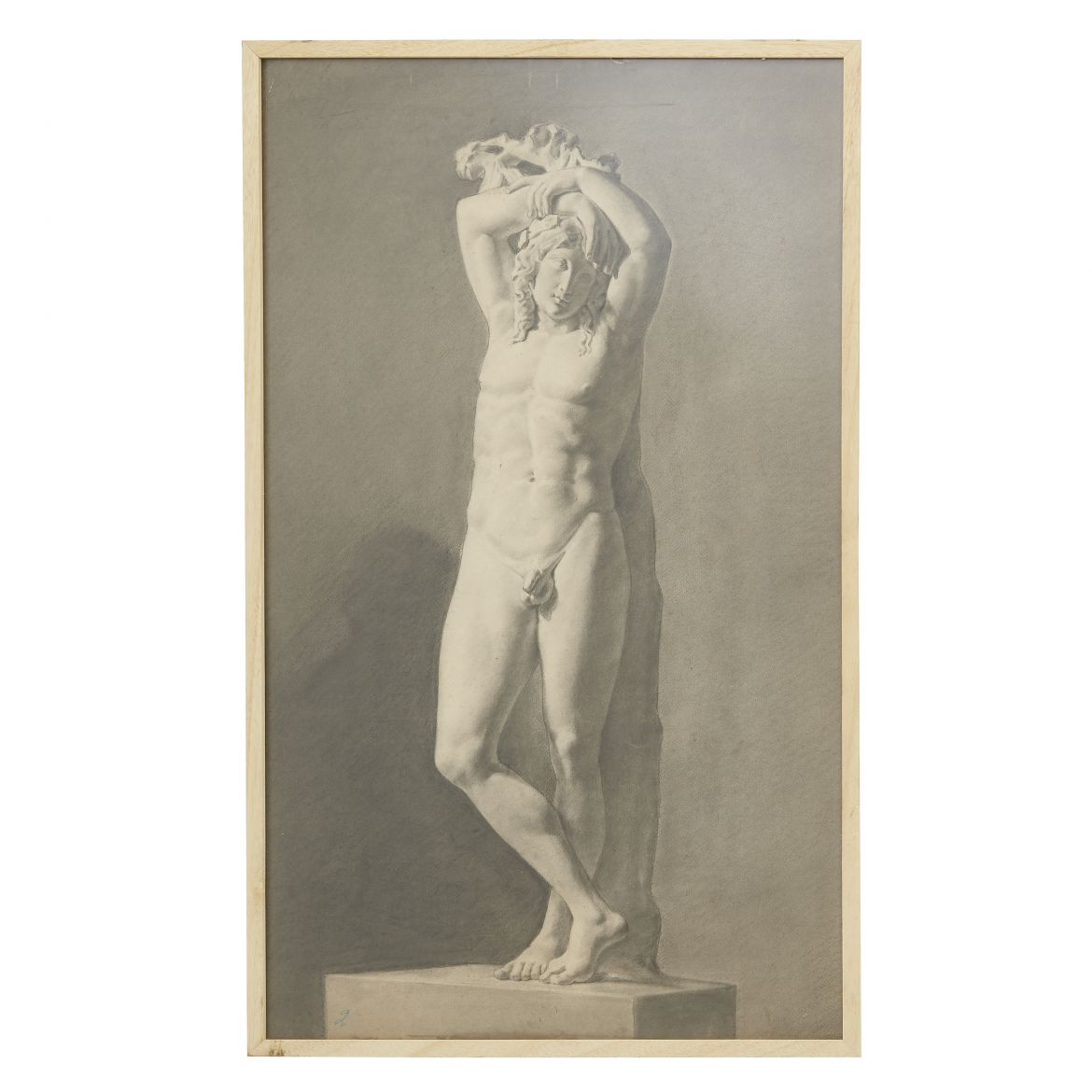 19th Century Italian Charcoal Drawing