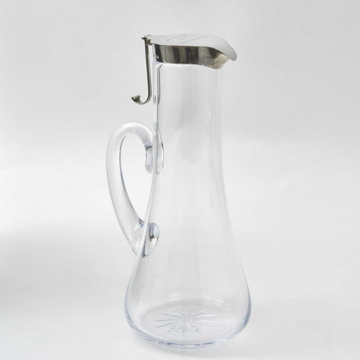 Tall Silver Mounted Claret Jug